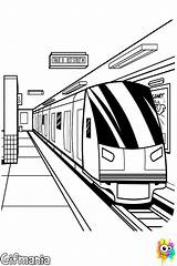 Subway Coloring Underground Pages Para Colouring Metro Colorear Malvorlagen Bahn Dibujos Draw Train Station Drawing Nyc Mumbai Quiet Drawings Printable sketch template