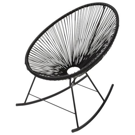 fauteuil  bascule de jardin noir copacabana maisons du monde