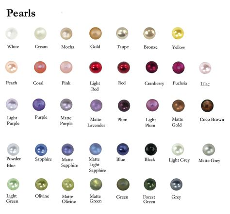 pearl colors pearl color chart 2014 pearl collection jpg 1431 215 1338