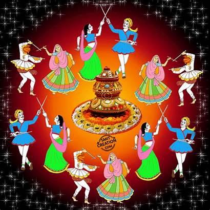 Navratri Happy Garba Raas Animated Graphics Smitcreation