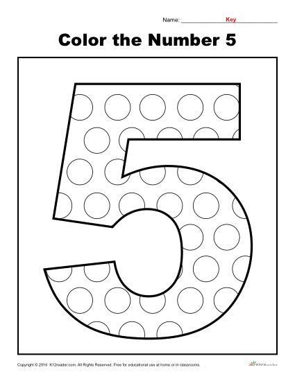 color the number 5 k12 numbers preschool preschool number worksheets number worksheets