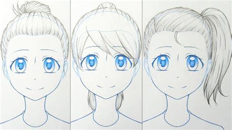 draw manga  hairstyles  ways youtube