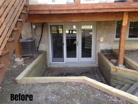 basement walkout deck with walkout basement in a hill google search landscape with basement entry pinterest