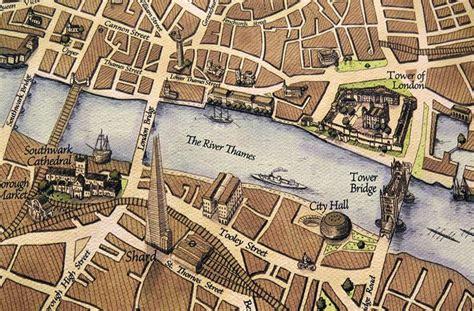 tower bridge london map london map england map map artwork