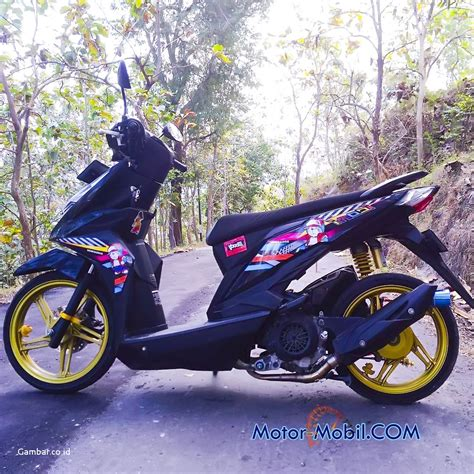 Modifikasi Motor Beat Fi Hitam by Modifikasi Motor Beat Fi Hitam Merah Motorwallpapers Org