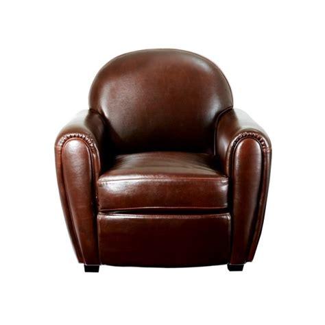 fauteuil club cro 251 te de cuir marron vieilli