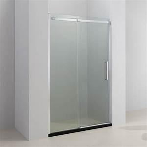 porte de douche coulissante acrux verre sable 97 a 181 cm With porte douche coulissante 140 cm