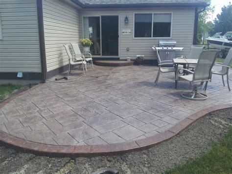 Backyard Stamped Concrete Patio Ideas Backyard Design