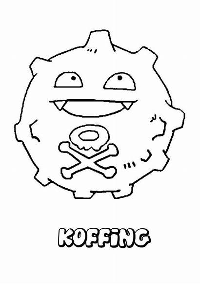 Pokemon Coloring Pages Ditto Koffing Cartoon Pikachu
