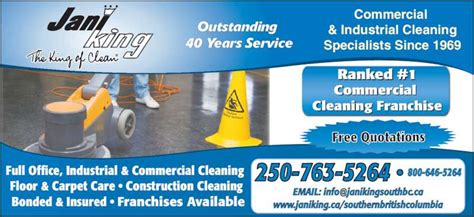 jani king commercial cleaning kelowna bc
