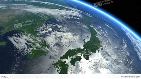 Japan From Space Japanese Islands Earth From Space Stock