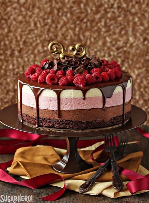 chocolate raspberry mousse cake recipe tutorial