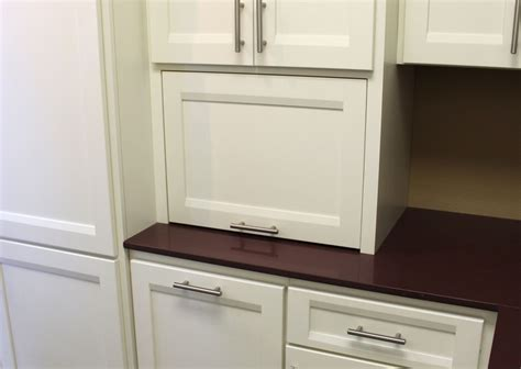 Appliance Garage   Square   Burrows Cabinets   central