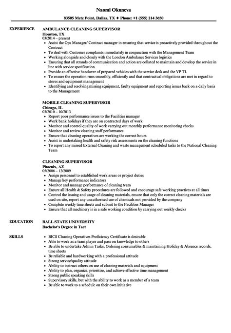 cv template for cleaning supervisor gallery certificate