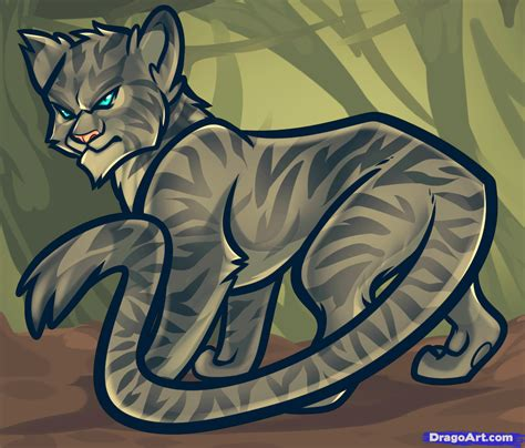 draw longtail longtail  warrior cats step