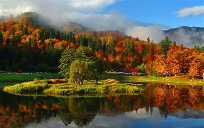 Mountain Fall Autumn Landscape Wallpapers Backgrounds Wallpaperaccess