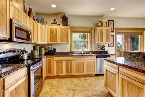 clean wooden kitchen cabinets