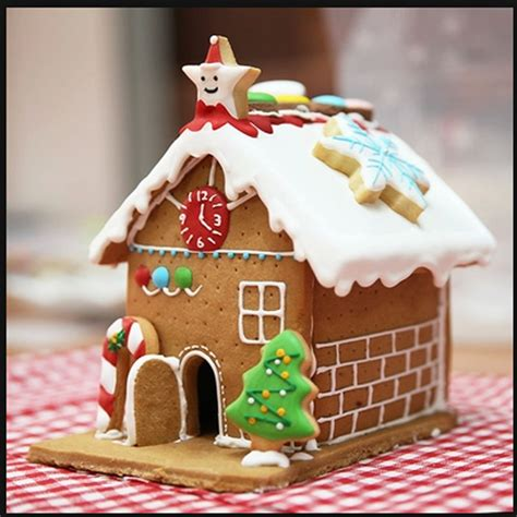 gingerbread house diy 3d mold biscuits stainless steel cracker new year decorations