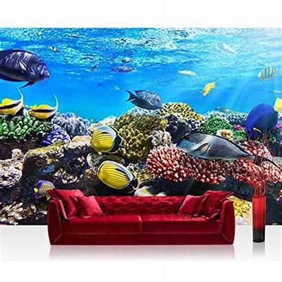 Reef Mural Aquarium Premium Underwater Sea Woven