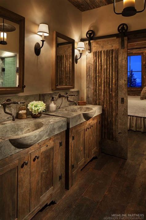 rustic bathroom sconces best small space organization hacks 31 gorgeous rustic
