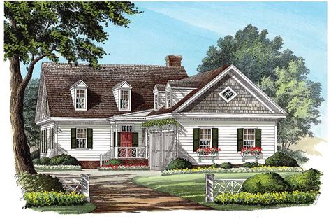 L-shaped Cape Cod Home Plan
