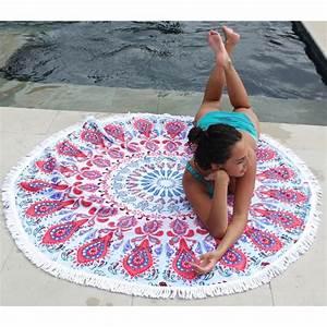 Serviette Ronde Eponge : serviette de plage ronde h8 ~ Teatrodelosmanantiales.com Idées de Décoration
