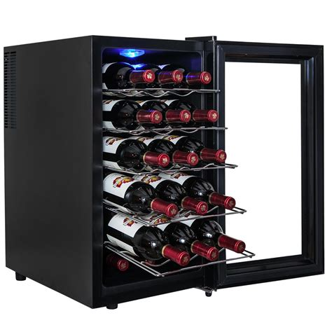 thermoelectric wine cooler akdy 28 bottle single zone thermoelectric wine cooler in