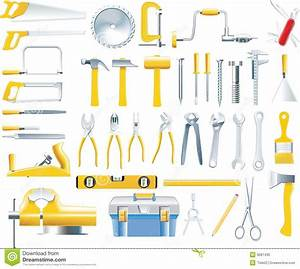 Vector Woodworker Tools Icon Set Stock Photo - Image: 9581430