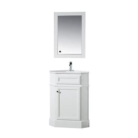 stufurhome hampton    corner vanity  white
