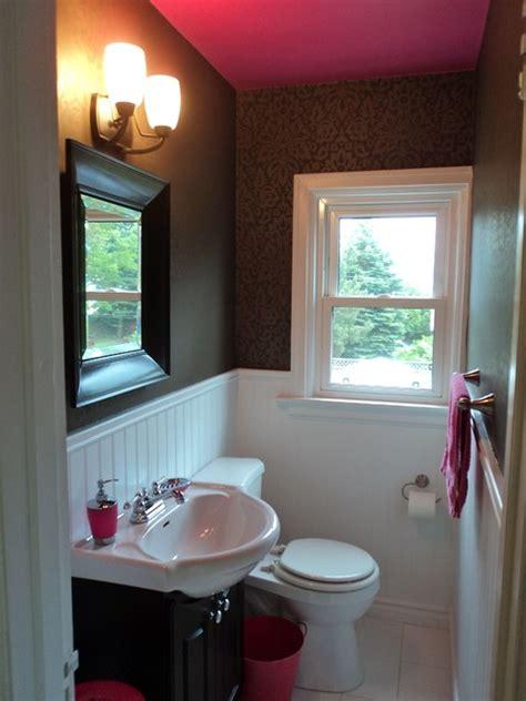 Bathroom  Pink Ceiling Modern Bathroom Toronto