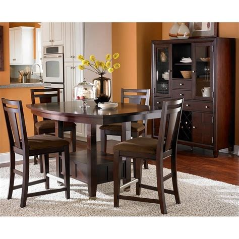 broyhill dining room sets northern lights 5 piece dining table set in dark walnut 5312 31 50 kit 5pc dining pkg