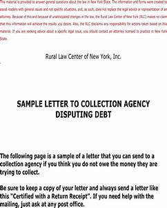 download sample letter to collection agency disputing debt With sample letter to debt collection agency