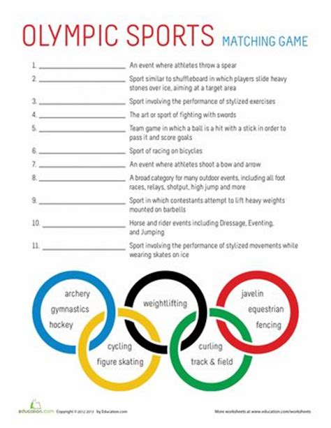 best pe worksheets images pinterest teaching ideas english class and gymnastics