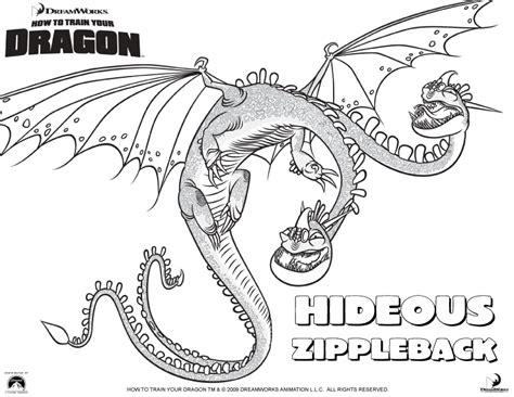 Hideous Zippleback Coloring Pages