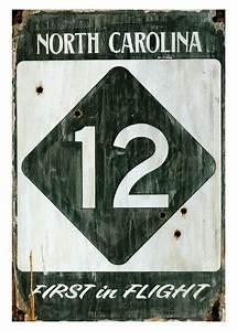Custom, Highway, 12, North, Carolina, Vintage, Style, Metal, Sign