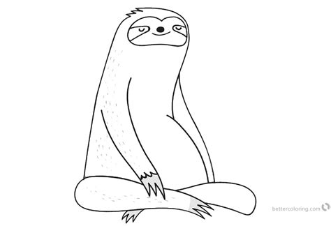 coloring pages  sloth  printable coloring pages