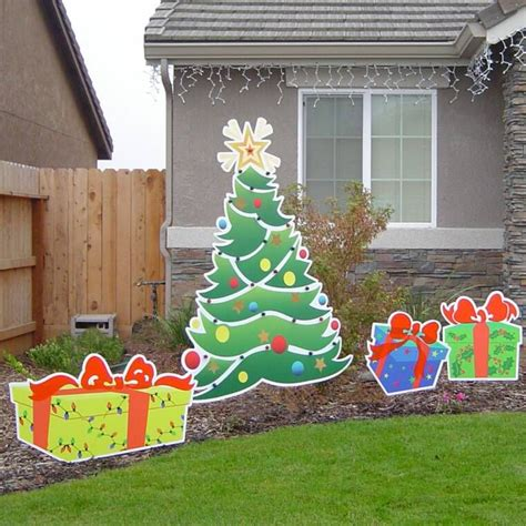 christmas yard art christmas decor pinterest