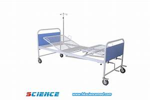 China Simple Cheap Price Manual Hospital Bed With Two