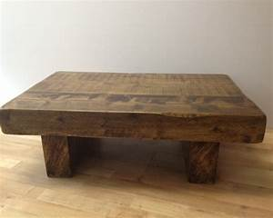 The 3ft x 2ft chunky rustic coffee table ely rustic for Chunky rustic coffee table
