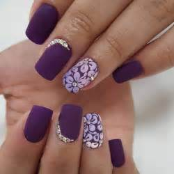 Top simple nail designs for short nails purple art design