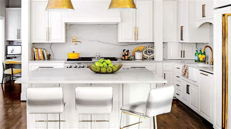 white pull out kitchen faucet our best cottage kitchens southern living
