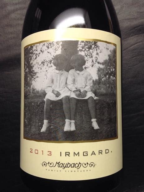2013 Maybach Family Vineyards Pinot Noir Irmgard, Usa