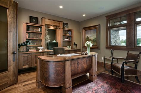 inspiring rustic home office designs  motivate