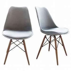 Chaise Design Metal : lot de 2 chaises design bois m tal nielsen design et hauts ~ Teatrodelosmanantiales.com Idées de Décoration