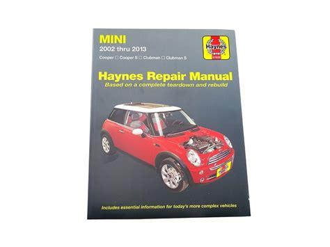 car owners manuals free downloads 2011 mini cooper countryman electronic valve timing haynes repair manual mini cooper 2002 2011