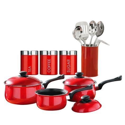 kitchen storage sets 12 kitchen starter set tea coffee sugar saucepan 3176
