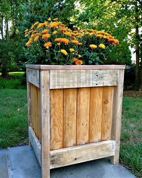 easy diy wooden planter box ideas  beginners