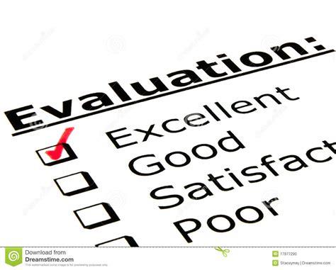 evaluation form stock photo image