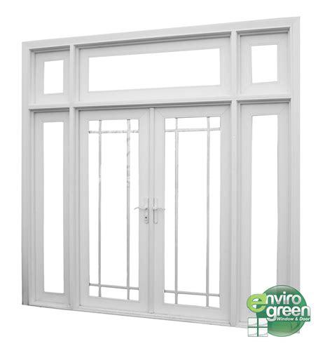 single patio door with side lights door