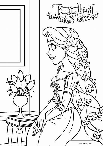 Rapunzel Tangled Coloring Pages Printable Disney Cool2bkids